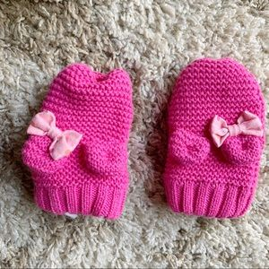 Disney Pink Minnie Mouse Mittens